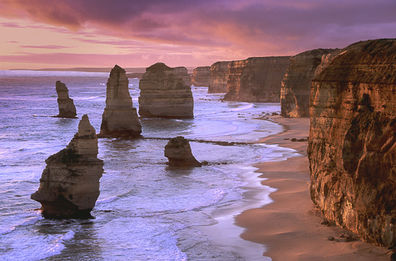 Twelve Apostles at Sunset, Great Ocean Road, Victoria, by Andrew Jones