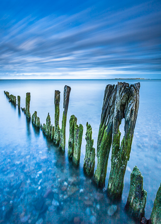 Weathered Breakwater, Normandy, France, by Andrew Jones