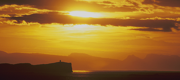 Midnight Sun, Snæfellsnes Peninsula, Iceland, by Andrew Jones