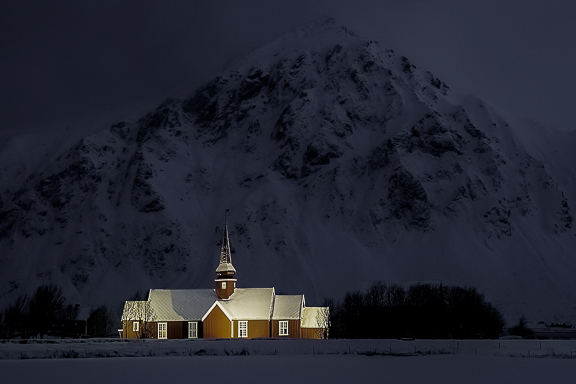 Lofoten Church, Lofoten Islands, Norway, by Andrew Jones