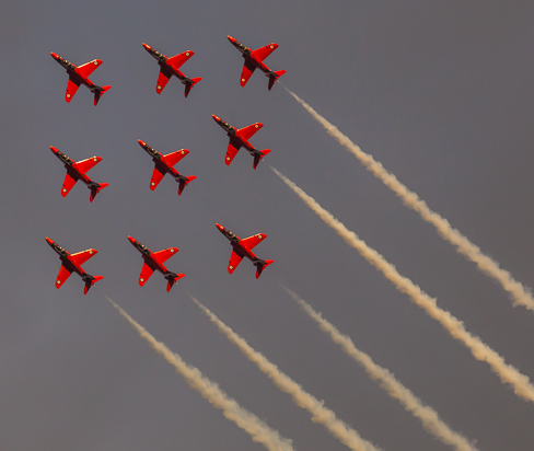 Red Diamond, Red Arrows, Hampshire, by Andrew Jones