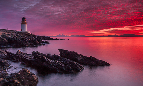 Red Skies over Loch Indaal, Islay, Scotland, by Andrew Jones