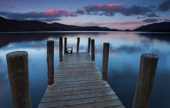 Landing Stage Twilight, Derwent Water, Lake District, by Andrew Jones