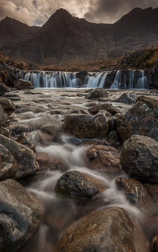 Glen Brittle Cascade, Isle of Skye, Scotland, by Andrew Jones