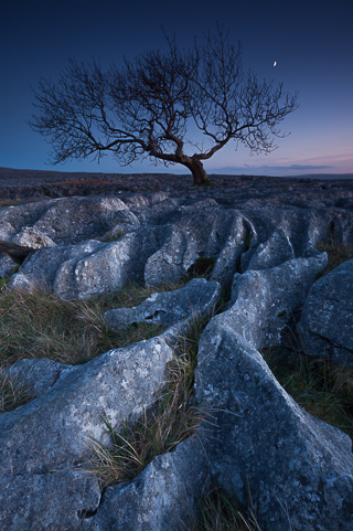 Limestone Pavement Twilight, Yorkshire Dales, by Andrew Jones
